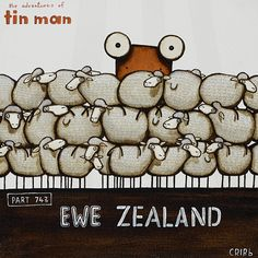 Ewe Zealand (Part 743) - Tin Man by Christchurch artist, Tony Cribb.