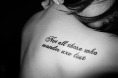 Not all those who wander are lost - ribcage