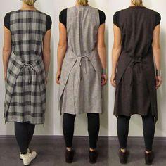 Apron wrap dress