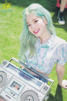 "TWICE-Dahyun ""Happy Happy"" postcard scan Nayeon, South Korean Girls, Korean Girl Groups, I Fancy You, Warner Music, Twice Once, Twice Dahyun, Twice Kpop, Album Songs"