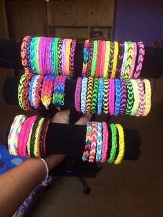 My Loom bands. If you want to buy something, add me on snapchat or instagram: katekrizova and fb: Kateřina Křížová