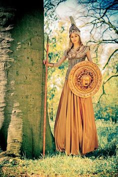 Pallas Athena costume by Susan Broers. Worn at Elf Fantasy Fair Haarzuilens (Netherlands). Picture taken by Eric Oaktree.