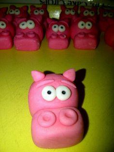 Fondant Hungry Hungry Hippos