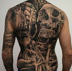 Tattoo by Fredrick Edin| Body Suit | Full Back | tattoofreakz.com