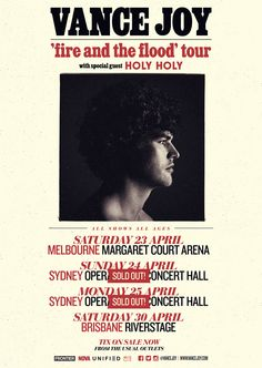 Vance Joy (2016) April 23 - April 30 | Melbourne, Sydney, Brisbane