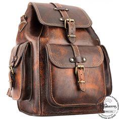 """Кожаный рюкзак """"Патриот"""" (коричневый эксклюзив) - 18"""