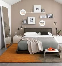Simple bedroom shelves above bed...love the colors