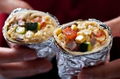 vegetarian breakfast burrito recipe combines eggs and Cotija cheese ...