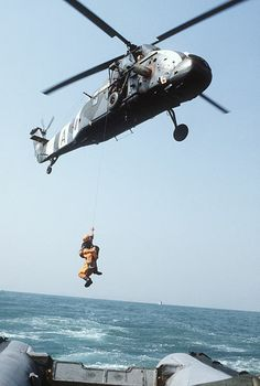 Search and Rescue: Royal Air Force Westland Wessex HC2 SAR helicopter off Hong Kong