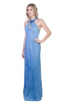 Vestido Jeans Longo Lightblue  - Muito amor envolvido no que mais amo fazer!!!!