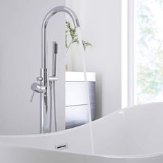Add designer style to your bathroom with the Milano Mirage freestanding bath shower mixer tap Bath Shower Mixer Taps, Bathroom Taps, Modern Bathroom, Freestanding Bath Taps, Shower Kits, Chrome Finish, Modern Design, Flooring, Style