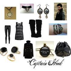 Once Upon a Time Captain Hook inspired outfit Polyvore