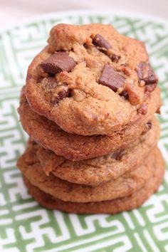 Peanut flour chocolate chip cookies