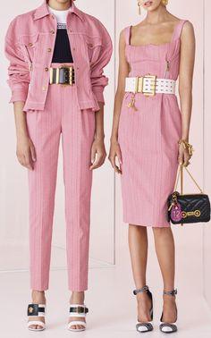 Curved Neckline Knee Length Dress  by VERSACE for Preorder on Moda Operandi