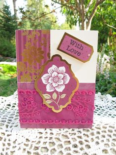 With Love Card by LeCardShoppe on Etsy