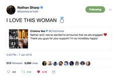 NateWantsToBattle is ENGAGED |  Nathan Nate Sharp and Cristina Vee | #natewantscristina