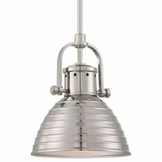 Buy the Minka Lavery Polished Nickel Direct. Shop for the Minka Lavery Polished Nickel 1 Light Wide Indoor Mini Pendant from the Dome Collection and save. Barn Lighting, Modern Lighting, Island Lighting, Lighting Direct, Loft Lighting, Industrial Lighting, Interior Lighting, Lighting Ideas, Industrial Style