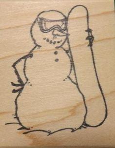 Snow Much Fun- Snowman with Snowboard Found on Etsy: https://www.etsy.com/shop/PattisPaperCrafts