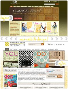 Before/After Cutting Edge Stencils Website #redesigned