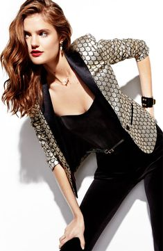 Night Out: Juicy Couture Jacket & Jumpsuit #Nordstrom #Holiday