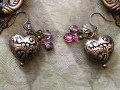 Heart of Brass Earrings by BecksCuriousities on Etsy