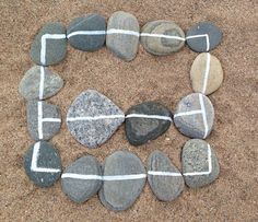 White Line Pebble Maths - fab as ever from I'm a teacher, get me OUTSIDE here!