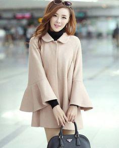 KOREAN FASHION WINTER NEW WOOLEN CAPE COAT