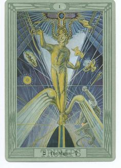 I. The Magician - Tarot Thot Crowley by Aleister Crowley and Frieda Harris