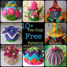 Handmade Tea Cozy with Patterns f