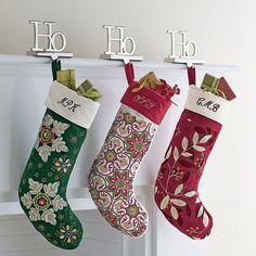 LLBean: Christmas Crewel Stocking | christmas stocking | Pinterest ...