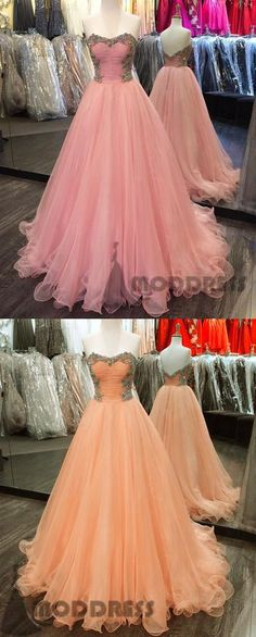 Crystal Beaded Long Prom Dresses Sweetheart Ball Gowns Backless Evening Formal Dresses,,HS725 #promdress #fashion #shopping #dresses #eveningdresses #2018prom