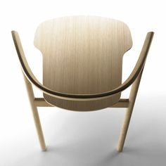 chair designed by Patrick Norguet Alki Design Furniture, Chair Design, Wood Furniture, Outdoor Furniture, Chair Sofa Bed, Armchair, Take A Seat, Cool Chairs, Wood Design