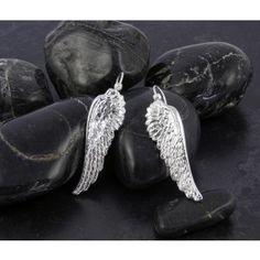 Fine Silver Angel Wing Earrings