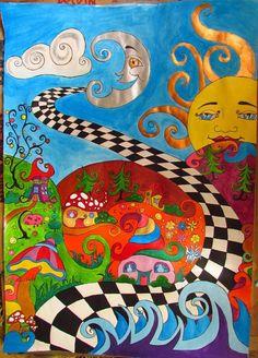 hippie painting ideas 835347430869892854 - art trippy Source by pentelowaavale paintings space Psychedelic Drawings, Trippy Drawings, Art Drawings, Hipster Drawings, Psychedelic Pattern, Flower Drawings, Hippie Painting, Trippy Painting, Alien Painting