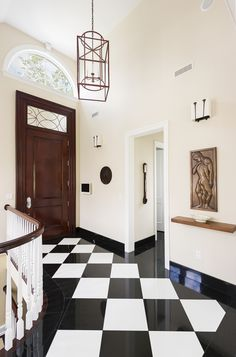 Greenwich townhouse front hallway
