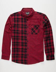 RETROFIT Patchwork Mens Flannel Shirt