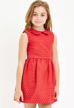 Diamond-Patterned Dress (Kids)   Forever 21 girls - 2000146622