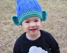 Trolls Crochet Hat Trolls Hair Trolls hat Princess Poppy