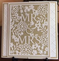 Mr & Mrs Wedding Card by Michele G - Cards and Paper Crafts at Splitcoaststampers