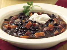 Slow Cooker Zesty Black Bean Soup Recipe from Betty Crocker