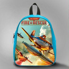 Fire and Rescue Sky, School Bag Kids, Large Size, Medium Size, Small Size, Red, White, Deep Sky Blue, Black, Light Salmon Color