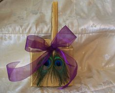 Flower Girl Basket with Peacock Feathers on by MandaleighDesigns, $30.00