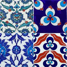turkish iznik tiles, especially love the top right corner