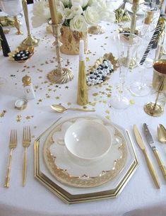 new year's eve table decoration / dekoracje sylwestrowe stołu