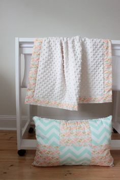 Mint Arrowhead Snuggle Blanket - pram size minky baby blanket - Perfect Baby Shower Gift! on Etsy, $40.00 AUD