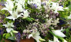 A hand tied sheaf is made without foam or synthetic ribbon so they are completely biodegradable, and as they are locally grown, truly eco-friendly, green funeral flowers.