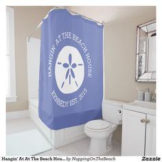 Hangin' At At The Beach House Shower Curtain