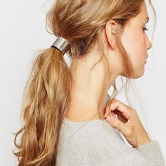 Luxe Hair Tie in Silver