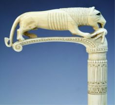 Walking+Canes+for+Women | 17: Ivory Cane Topper with Lion and Gazelle