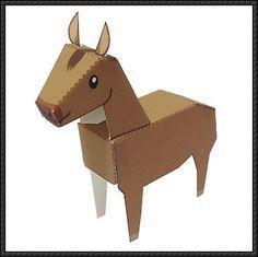 Dat was even zoeken, maar ik hebde bouwplaat van een paardgevonden om gratis te downloaden. Misschien leuk als Sinterklaas surprise. …